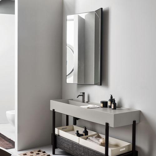 espejo de pared / con luz LED / contemporáneo / para el sector servicios