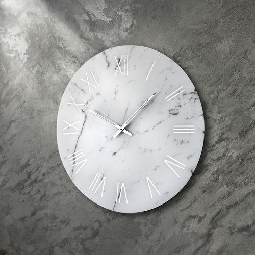 reloj contemporáneo / analógico / de pared / de vidrio
