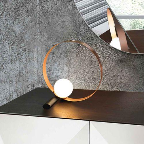 lámpara de mesa / contemporánea / de metal / de vidrio