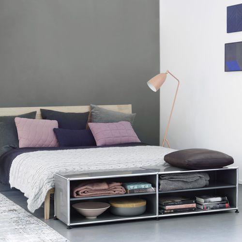 estantería baja / contemporánea / de MDF lacado / para dormitorio