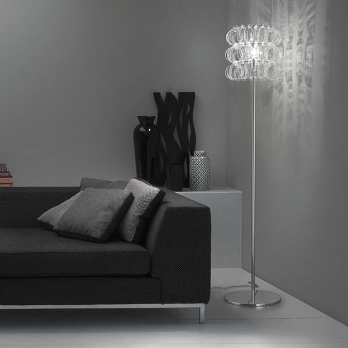 lámpara de pie / contemporánea / de vidrio / de interior