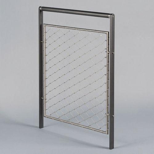 barrera de protección / fija / de acero inoxidable / de malla metálica