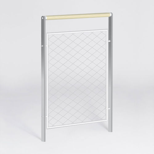 barrera de protección / fija / de acero inoxidable / de malla de acero inoxidable