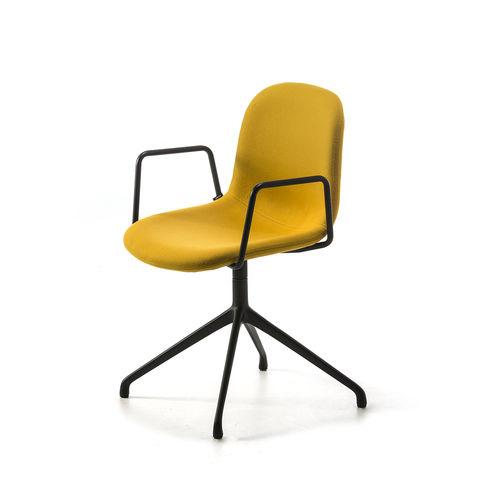 silla de oficina contemporánea / con reposabrazos / giratoria / de tejido
