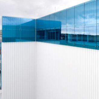 revestimiento de fachada de acero / prelacado / a medida