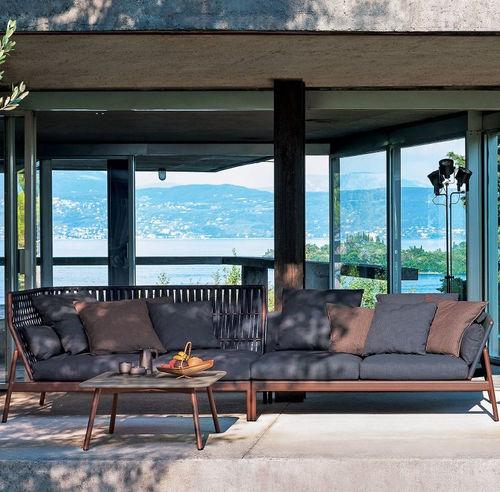 sofá de exterior / modular / de esquina / contemporáneo