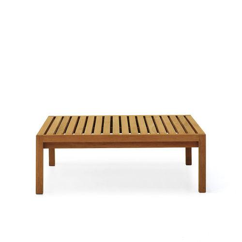 mesa de centro contemporánea / de teca / cuadrada / de interior