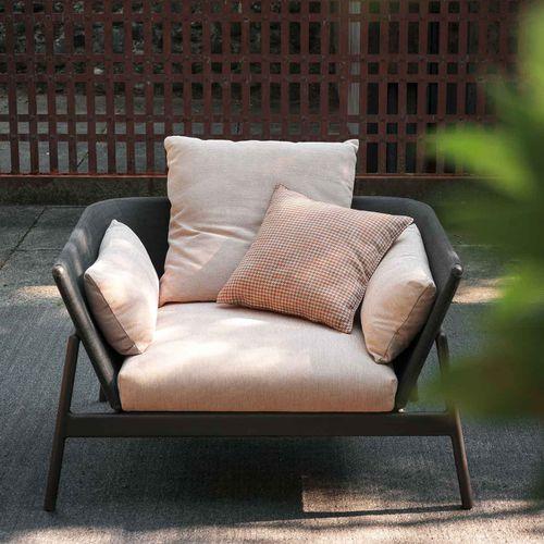sillón de jardín / contemporáneo / de Batyline® / de aluminio pintado