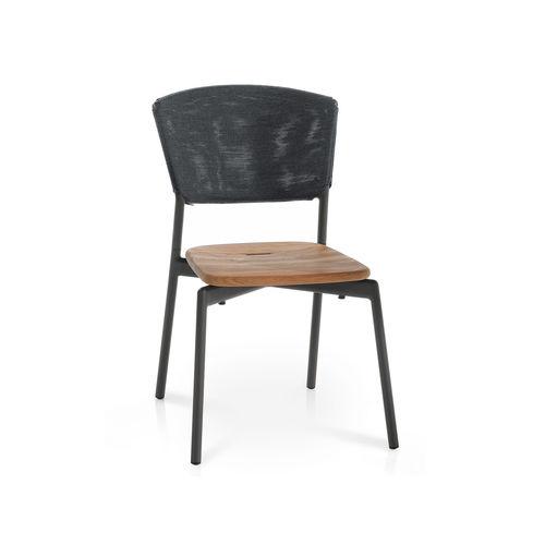 silla moderna / apilable / con cojín amovible / de Batyline®