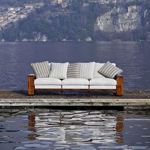 sofá moderno / de jardín / Sunbrella® / de caoba