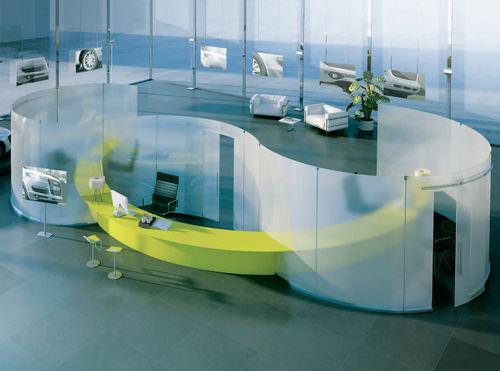 tabique amovible / acristalado / para oficina / para open space