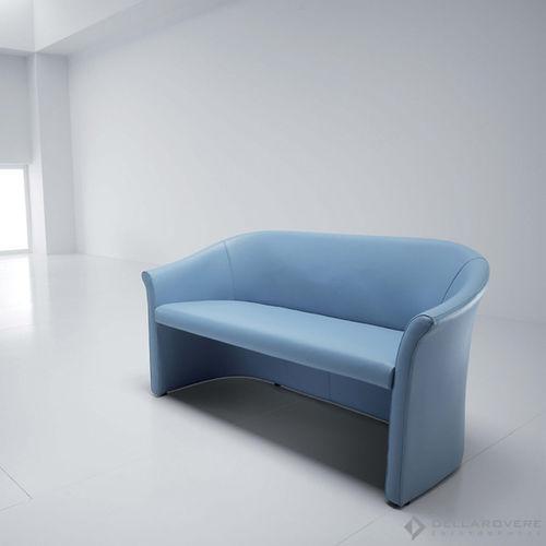 sofá contemporáneo / de tejido / de cuero / para el sector servicios