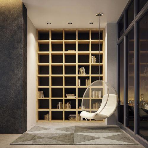 alfombra contemporánea / con motivos geométricos / de seda vegetal / rectangular