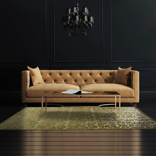 alfombra contemporánea / con motivos / de polipropileno / de viscosa