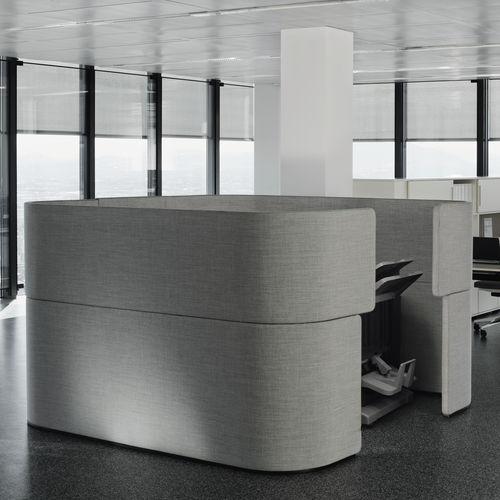 separador para oficina para suelo / de tejido acústico / insonorizado