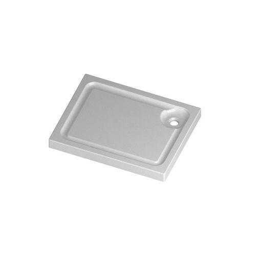 plato de ducha rectangular / independiente / de cerámica / antideslizante