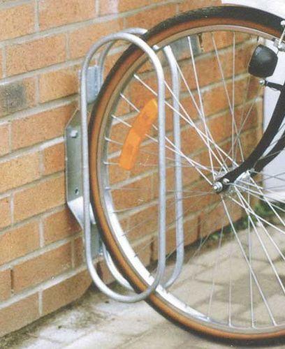 aparcabicis mural / de acero galvanizado / para espacio público
