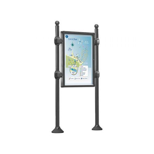 panel indicador de exterior / de vidrio / de chapa de acero / de acero galvanizado