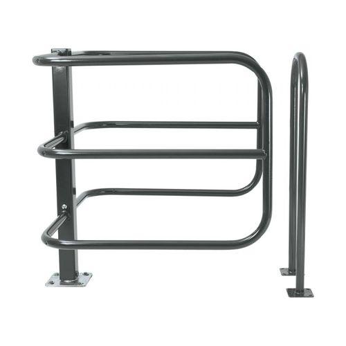 barrera de control de acceso / pivotante / de acero galvanizado / para espacio público