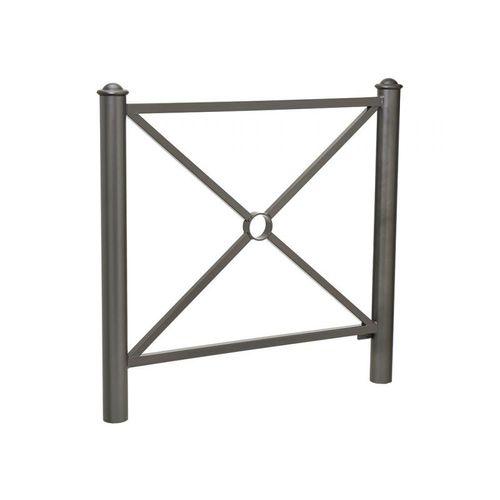 barrera de protección / fija / de acero galvanizado / para espacio público