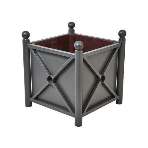 jardinera de chapa de acero / de acero galvanizado / de poliéster / rectangular