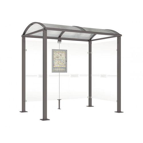 parada de autobús de acero galvanizado / de aluminio / de aluminio anodizado / de policarbonato