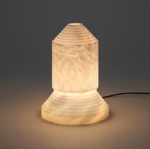 lámpara de mesa / de diseño original / de alabastro / hecha a mano