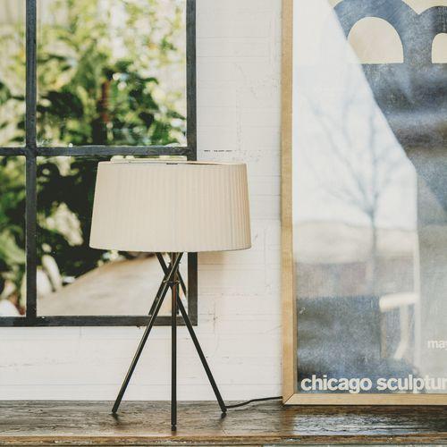 lámpara de mesa / contemporánea / de metal / de tejido