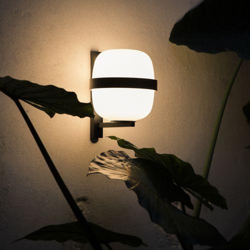 aplique contemporáneo / de metal / de vidrio opalescente / LED
