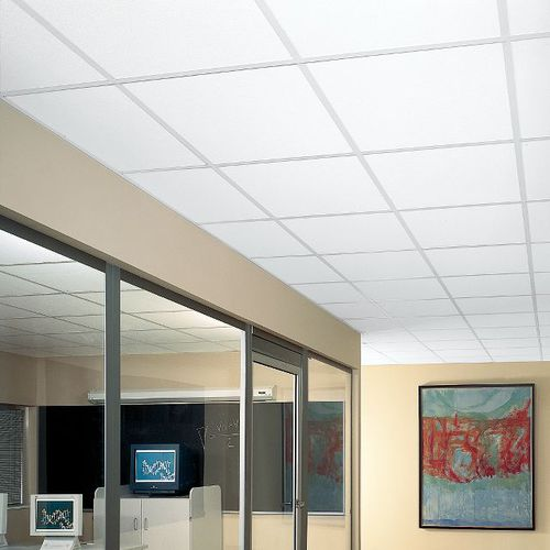 falso techo de fibra mineral / en losas / acústico / ignífugo