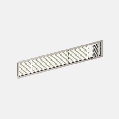 rejilla de ventilación de aluminio / rectangular / para marcos de ventana / para el suministro y el retorno de aire