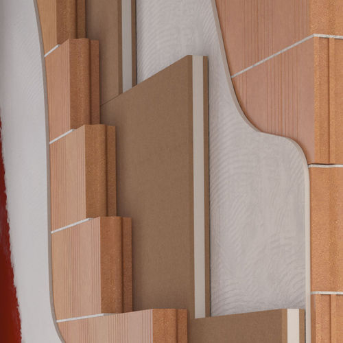 aislante acústico / de fibra de madera / de polipropileno / de pared