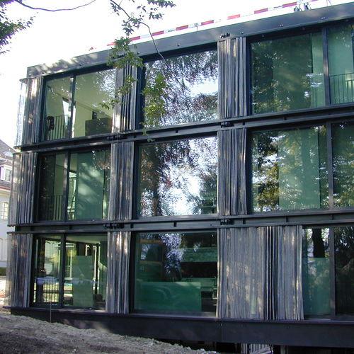 celosía con lamas de metal / de malla metálica / para fachada / horizontal