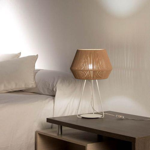 lámpara de mesa / contemporánea / de metal / de cuerda
