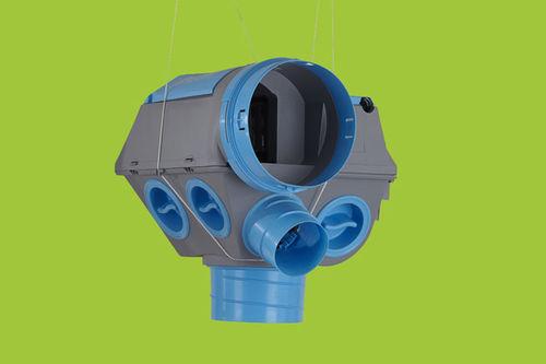 unidad de ventilación flujo simple / hidrograduable / centralizada / residencial