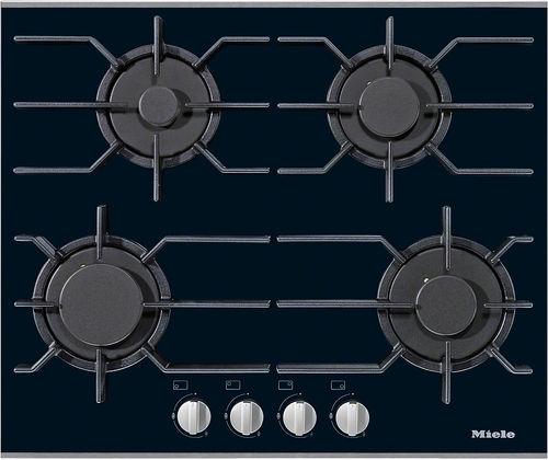 placa de cocina de gas / con parrilla / de hierro fundido / 4 fuegos