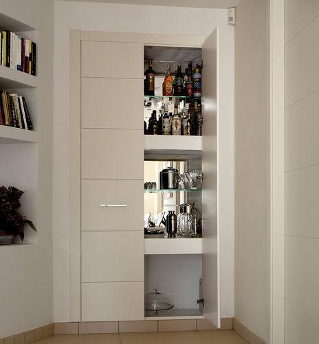puerta para armario / abatible / de madera maciza / de roble