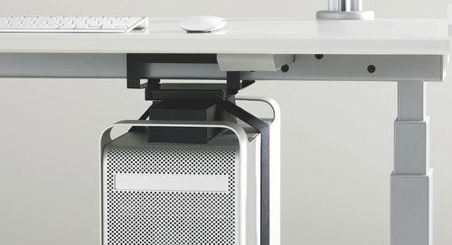 canaleta de cableado de metal / para escritorio / profesional