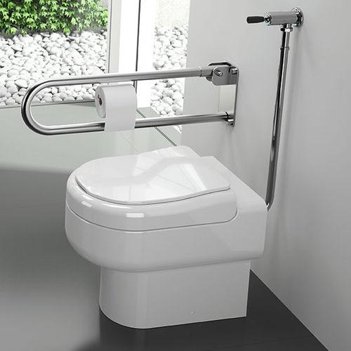 inodoro de pie / de porcelana / con cisterna empotrada / para personas con movilidad reducida