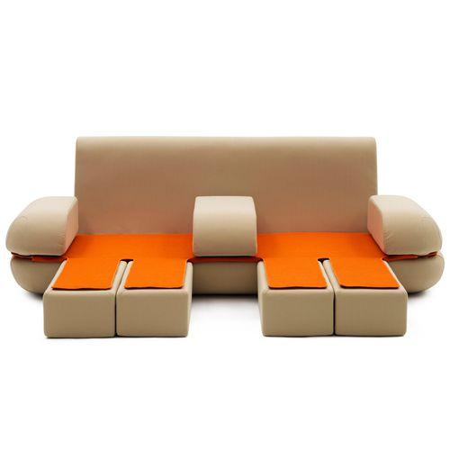 sofá modular / cama / contemporáneo / de poliéster
