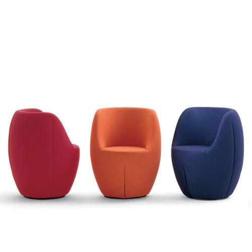 sillón contemporáneo / de poliéster