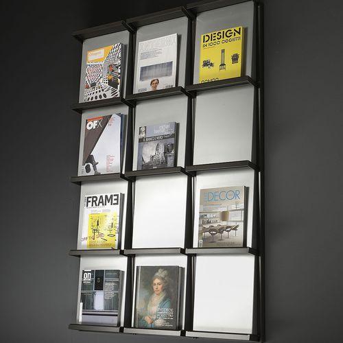 revistero contemporáneo / para oficina / de acero / de aluminio