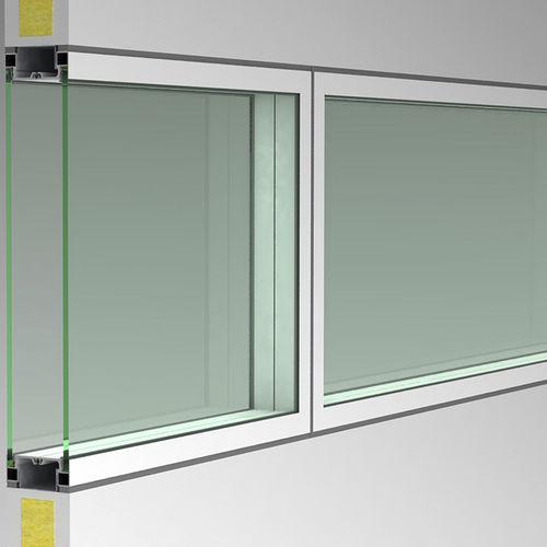 tabique fijo / de vidrio / de aluminio / para open space