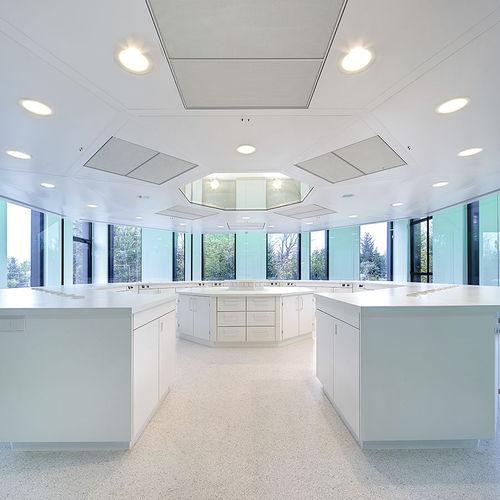 falso techo de aluminio / tipo panel / ignífugo / para sala blanca