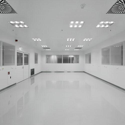plafón contemporáneo / cuadrado / de vidrio / de acero