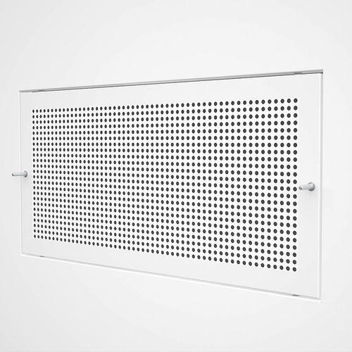 rejilla de ventilación de acero inoxidable / de acero / rectangular / blanca
