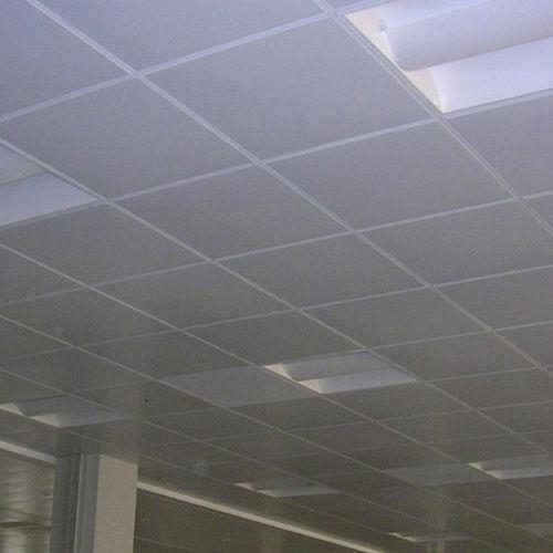 falso techo de acero / en losas / acústico / ignífugo