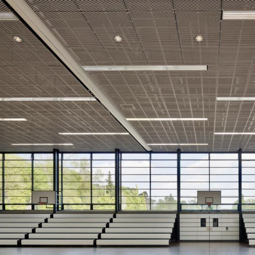 falso techo de acero / tipo panel / acústico / ignífugo