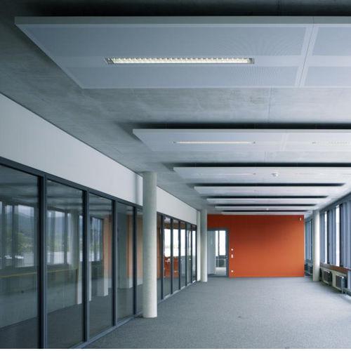 falso techo de aluminio / de acero / tipo panel / acústico