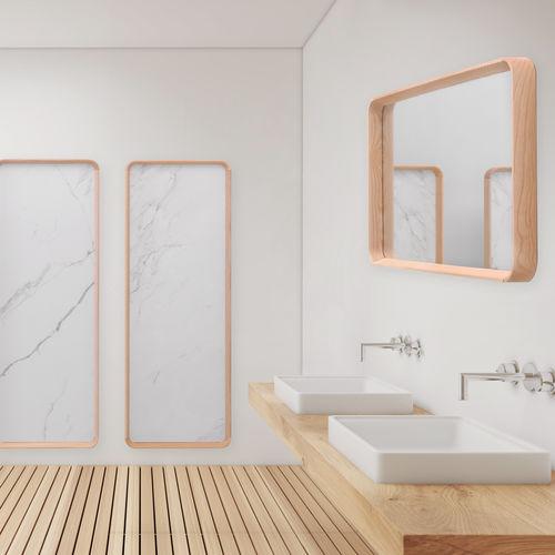 espejo de pared / para dormitorio / contemporáneo / rectangular